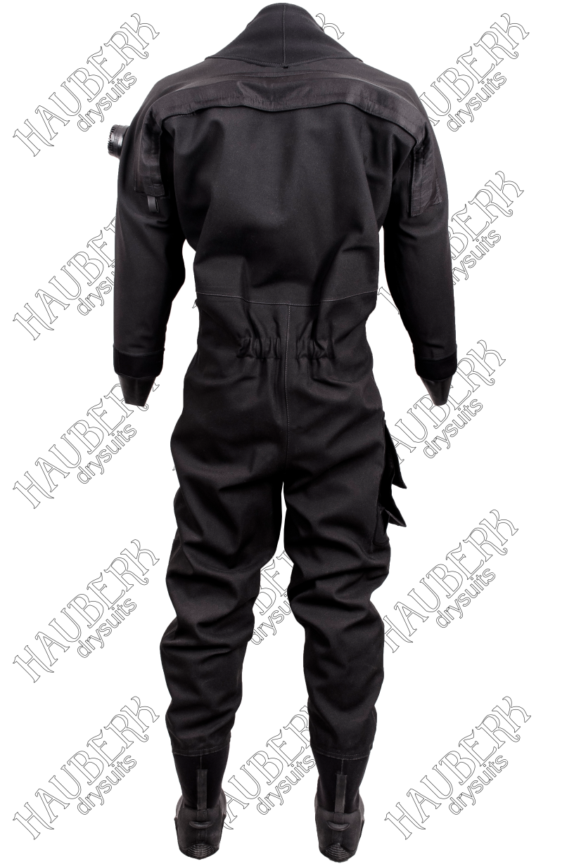 trilaminate diving drysuit Hauberk Chiton back entry